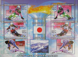 長野オリンピック 中央アフリカ共和国