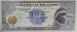 チャタム諸島(ニュジランド)2000年ミレニアム記念紙幣 未使用