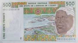 西アフリカ通貨連合 トーゴ共和国500フラン 未使用