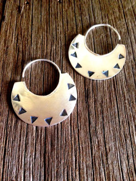 Warrior earrings -pure silver