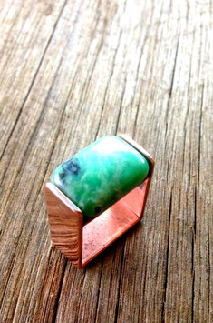 turquoise square ring