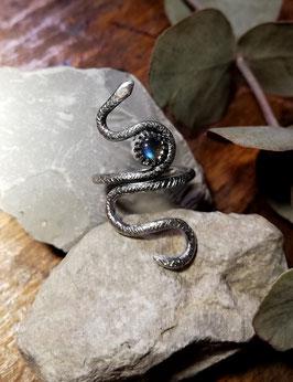 """ring """"serpent"""" labradorite"""