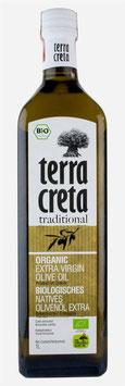 002 Olivenöl Bio Terra Creta : 1-Liter-Flasche oder 0,5-Liter-Flasche