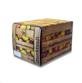 Leckeren Apfelsaft - Quer durch den Garten - aus neuer Ernte.   100% Apfeldirektsaft 5 Liter Bag-in-Box   - Vegan -