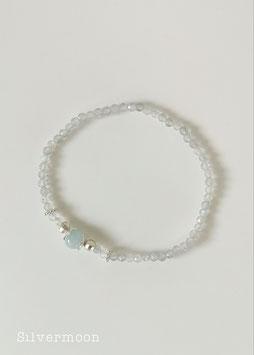 Armband elastisch, kleine Labradorith Perlen