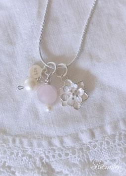 Kette 925 Silber, Blume
