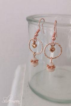 Ohrringe Ring mit Herz rosé