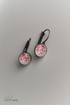 Ohrringe Cabochon Rose