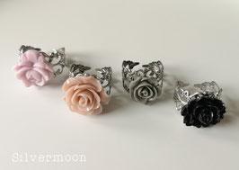 Ring Rose, silbern