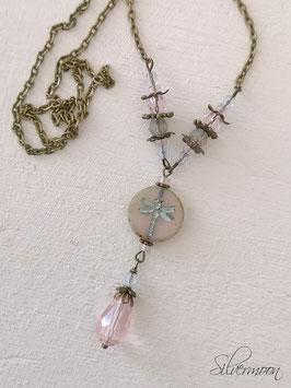 Kette Libelle rosa vintage