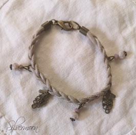 Armband beige geflochten