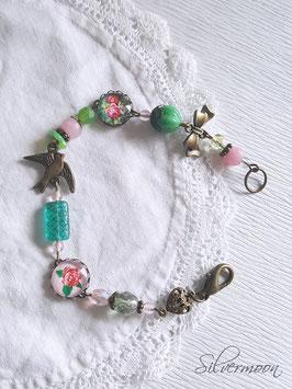 Armband verspielt grün, rosa