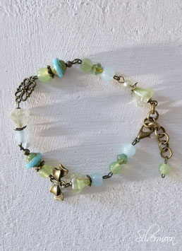 Armband Messing grün, türkis