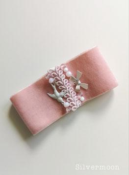 Armband elastisch Samt rosa Schwalbe
