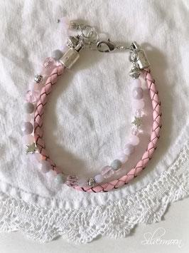 Armband Leder rosa