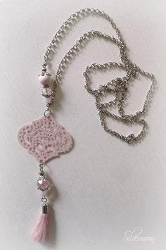 Kette Ornament, Quaste rosa