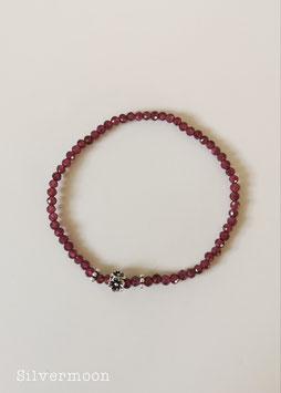 Armband Granat 925 Silber