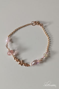 Armband rosé, Sterne, rosa