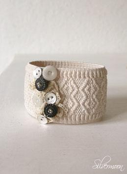 Armband antike Knöpfe, Spitze