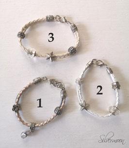Armband Leder grosse Perlen