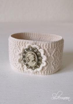 Armband elastisch, Kamee beige