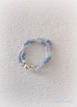 Ring Miyuki grau, lila, blau