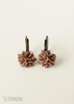 Ohrringe Blumen braun