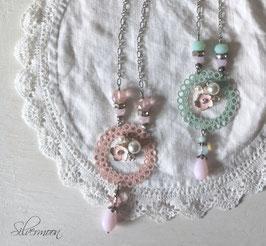 Ketten aqua & rosa