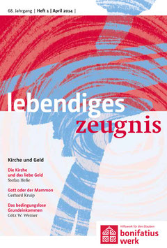 KIRCHE UND GELD  - 2014 Heft 1 - 69. Jahrgang