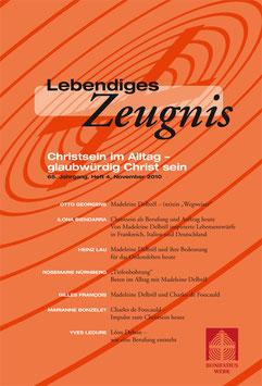 CHRISTSEIN IM ALLTAG - GLAUBWÜRDIG CHRIST SEIN 2015  - 2010 Heft 4 - 65. Jahrgang