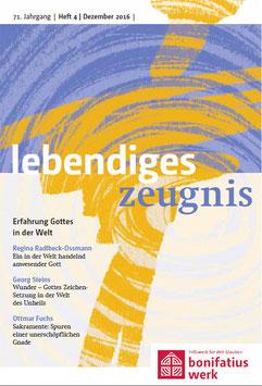 ERFAHRUNG GOTTES IN DER WELT  - 2016 Heft 4 - 71. Jahrgang