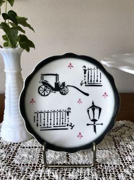 商品番号18056 ステンシルの小さな絵皿