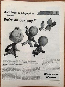 商品番号19066G 雑誌「LIFE」1940年代広告 額なし見開き