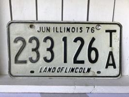 商品番号17073 ナンバープレート白(1976年 イリノイ州)