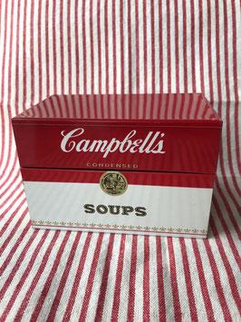 商品番号18037 キャンベルスープ Tin レシピボックス