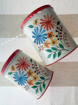 商品番号19052 花柄 Tin キャニスター2個セット