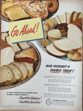 商品番号19066C 雑誌「LIFE」1940年代広告 額なし見開き
