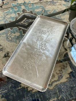 商品番号20113 花柄長方形アルミトレイ