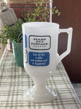 商品番号21039 ミルクグラスのフッテッドマグ