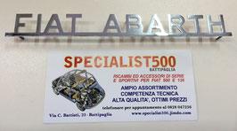 "SCRITTA IN  ACCIAIO   SUPER LUCIDO   ""FIAT ABARTH"""