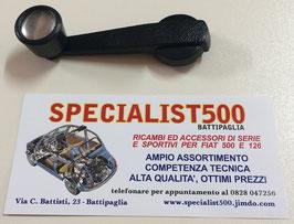 MANIGLIA ALZAVETRO PLASTICA NERA CON TAPPO CROMATO 500 L - R - 126
