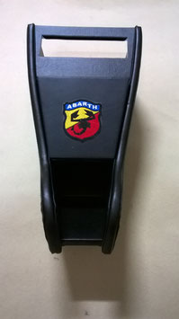 MOBILETTO  PORTARADIO  NERO LOGO ABARTH