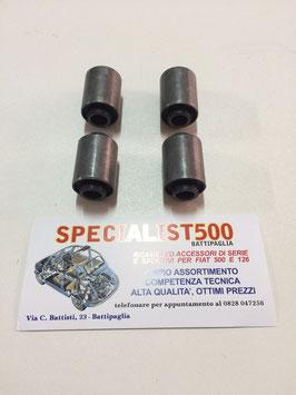 KIT SILENT BLOK BRACCI OSCILLANTI POSTERIORI FIAT 500 D - F 1à serie - GIARDINETTA