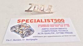 SCRITTA IN METALLO PER 500 GIANNINI 79x22mm