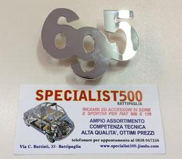 """SCRITTA IN ACCIAIO SUPER LUCIDO   """"695"""" GRANDE"""