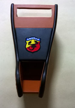 MOBILETTO  PORTARADIO  OCRA BORDO NERO LOGO ABARTH
