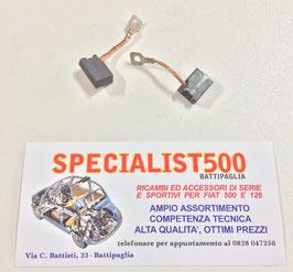COPPIA SPAZZOLE DINAMO  FIAT 500 N - D - F 1à SERIE - 600 - 850