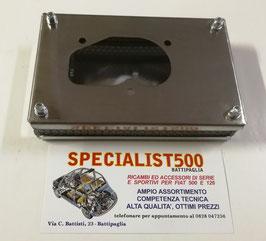 SCATOLA BOX FILTRO ARIA IN ACCIAIO PER CARBURATORE: WEBER DIC 30 - FIAT 850 SPECIAL