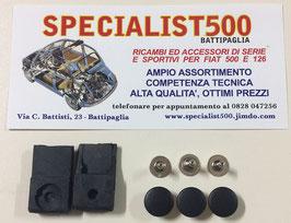 KIT CUFFIE IN GOMMA E RIBATTINI PER FISSAGGIO ASTA CENTRALE CAPOTTINA 500 F - L - R - 126