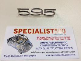 "SCRITTA IN ACCIAIO SUPER LUCIDO  ""595"" MEDIA"